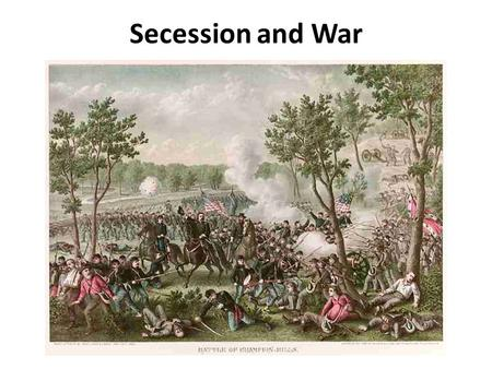 Secession and War. The Northwest Ordinance of 1787 1.The Northwest Ordinance of 1787 set up the process to create territories and states on the western.