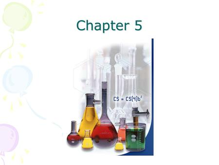 Chapter 5. To accurately and concisely represent chemical reactions we use the symbols of the elements and compounds in the reaction. This is done with.