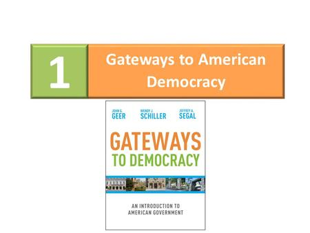 1 Gateways to American Democracy. Citizen Participation Citizen participation is the heart of a democratic system. Because of citizen participation the.