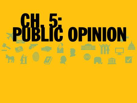 Public Opinion Democratic governments should reflect the will of the people –How do we know what that is? –Average citizens do not always have informed.