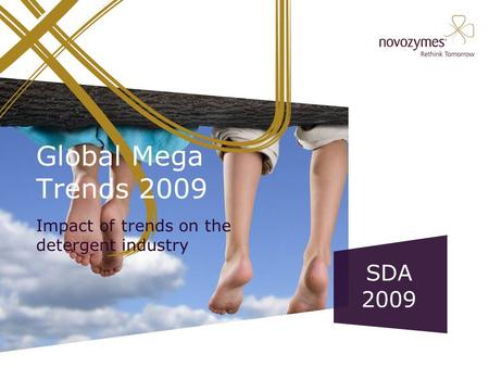 Global Mega Trends 2009 Impact of trends on the detergent industry SDA 2009.