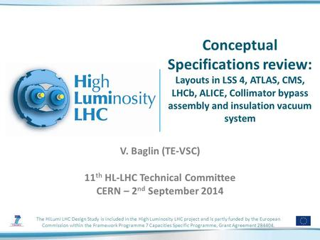 The HiLumi LHC Design Study is included in the High Luminosity LHC project and is partly funded by the European Commission within the Framework Programme.