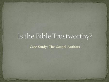 "Case Study: The Gospel Authors. Teabing smiled. ""And everything you need to know about the Bible can be summed up by the great canon doctor Martyn Percy."""