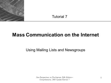 Mass Communication on the Internet