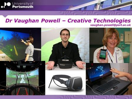 Dr Vaughan Powell – Creative Technologies