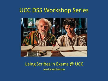 UCC DSS Workshop Series