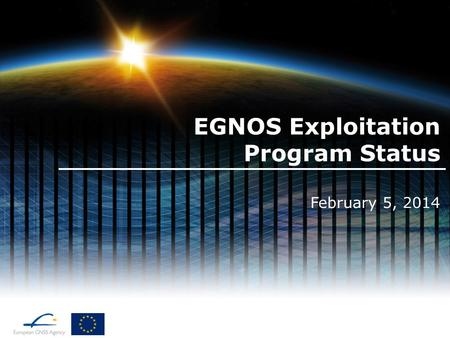 EGNOS Exploitation Program Status