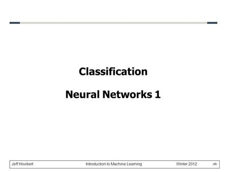 Classification Neural Networks 1