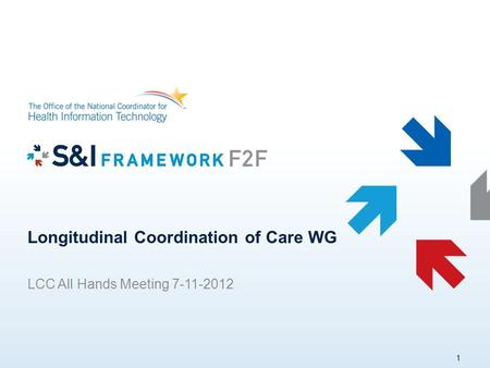 Longitudinal Coordination of Care WG LCC All Hands Meeting 7-11-2012 1.
