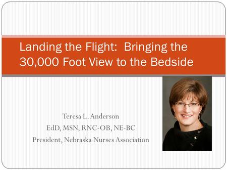 Landing the Flight: Bringing the 30,000 Foot View to the Bedside