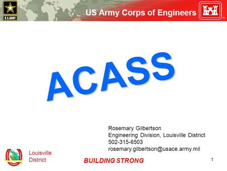 ACASS BUILDING STRONG Rosemary Gilbertson