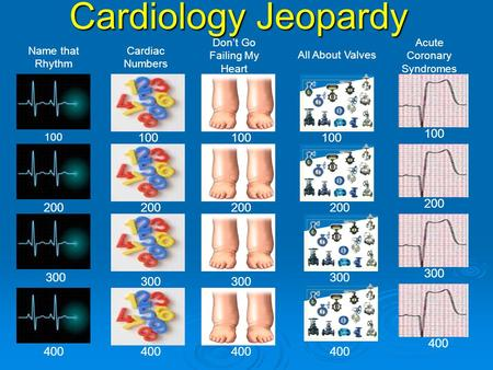 Cardiology Jeopardy Don't Go Failing My Heart Acute Coronary Syndromes
