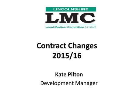Kate Pilton Development Manager