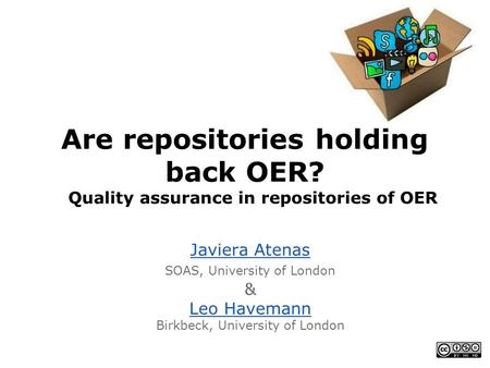Are repositories holding back OER?