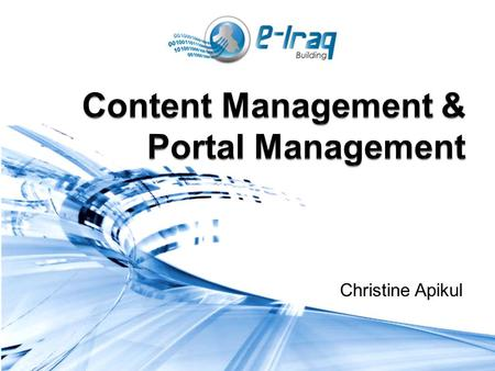 Christine Apikul. Module 4 Objectives To discuss the features and functions of a content management system To understand the tools and options available.