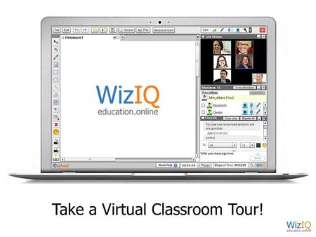 Take a Virtual Classroom Tour!. Virtual Classroom View.
