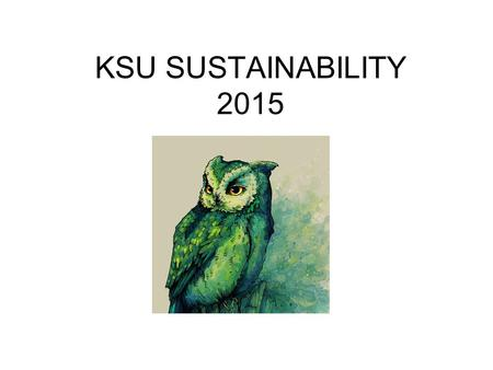 "KSU SUSTAINABILITY 2015. From 2012 - 2014 Kennesaw State University was among seven Georgia Colleges & Universities named in the ""Green Colleges List"""
