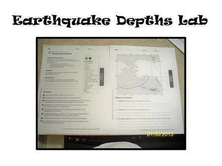 Earthquake Depths Lab. STEP 1 – trace the map (I photocopied mine and cut that out instead)