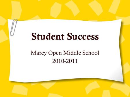 Marcy Open Middle School