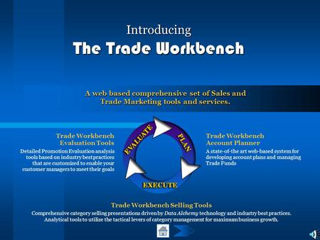 Introducing The Trade Workbench Trade Workbench Evaluation Tools Detailed Promotion Evaluation analysis tools based on industry best practices that are.
