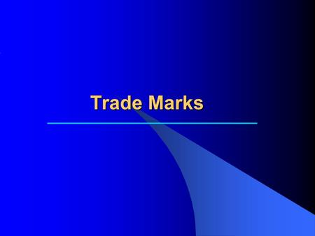 Trade Marks. Trademarks A trademark is a combination of words and symbols that a business uses to identify its products or services. Trademarks are important.