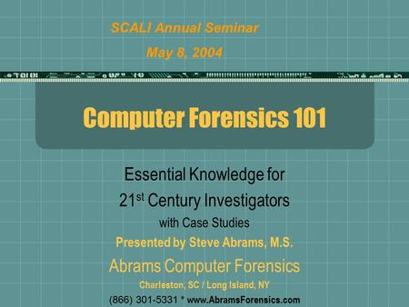 guide to computer forensics and investigations case project 1 3 Guide to computer forensics and investigations, fourth edition chapter 3 the  investigator's  projects additional resources key terms 3-1 guide to computer   finally, chapter 3 describes components used to build a business case for.