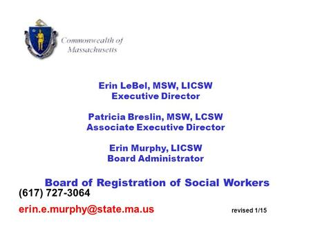 Board of Registration of Social Workers