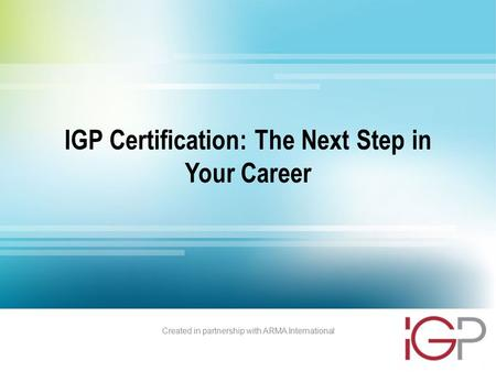 IGP Certification: The Next Step in Your Career