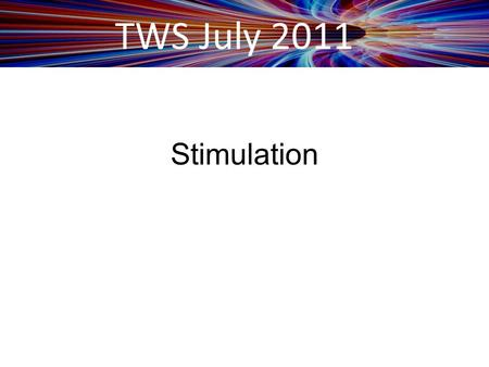 TWS July 2011 Stimulation. TWS July 2011 The ARRA Stimulus Reimbursement from an ifa Customer Perspective.