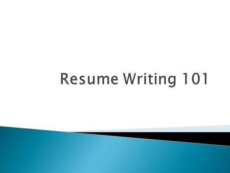 A Resume Is A Summary Of Your Experiences And Skills Relevant To The Field  Of