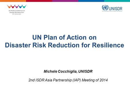 UN Plan of Action on Disaster Risk Reduction for Resilience