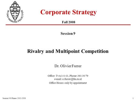 Corporate Strategy Fall 2008