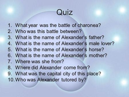 Quiz What year was the battle of charonea?