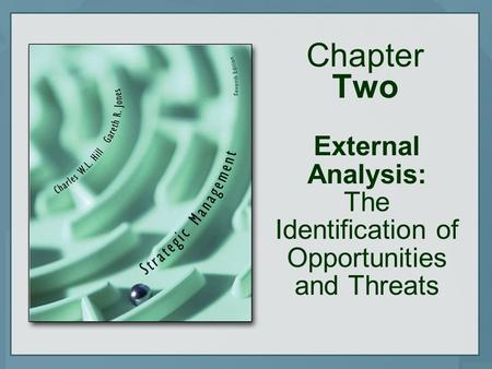 Chapter Two External Analysis: The Identification of Opportunities and Threats.