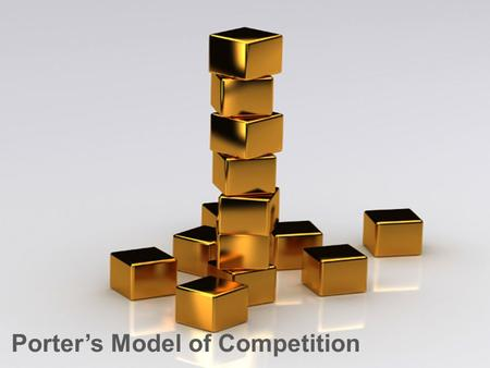 Porter's Model of Competition. Contents Porter's five forces – Competitor analysisPorter's generic competitive strategiesPorter's model of competition.
