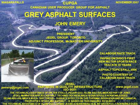 GREY ASPHALT SURFACES JOHN EMERY CUPGA