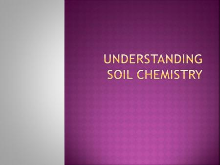  Describe the meaning and importance of soil fertility; Describe the meaning and importance of soil fertility  Explain the role of organic matter, soil.