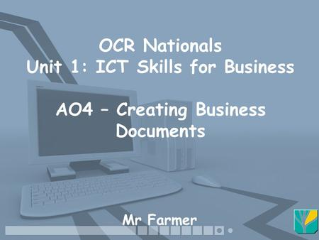 ocr nationals ict coursework A minimum of 5 gcse a-c including english and mathematics together with at least a c grade in gcse ict or a merit on the ocr nationals course duration 1 – 2 years assessment method assessment in each year is split between an exam and a formally assessed practical project.