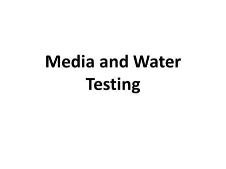 Media and Water Testing. Services provided by: UK Soils Laboratory Division of Regulatory Services Cooperative Extension Service College of Agriculture,