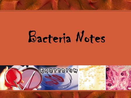 Bacteria Notes. Intro. To Bacteria Bacteria song  v=tqOVYpkZ0qs.