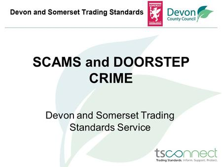 SCAMS and DOORSTEP CRIME