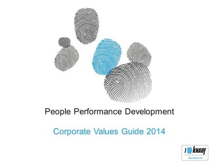 People Performance Development Corporate Values Guide 2014.