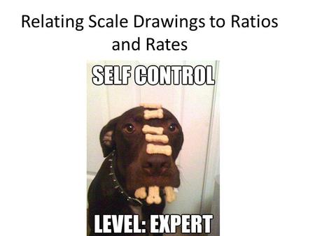 Relating Scale Drawings to Ratios and Rates