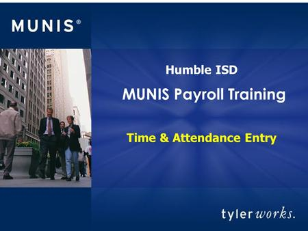 MUNIS Payroll Training