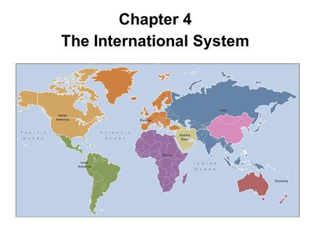Realism and liberal internationalism the two theories of the international systems