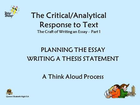 critical response essay thesis