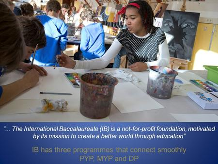IB has three programmes that connect smoothly