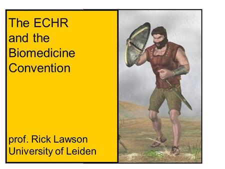 The ECHR and the Biomedicine Convention prof. Rick Lawson University of Leiden.