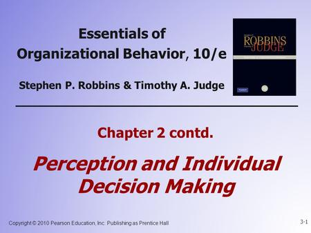 organizational behavior robbins and judge