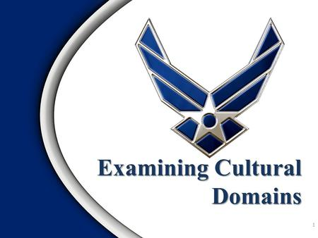 Examining Cultural Domains 1. The Intercultural Development Continuum Cultural Domains: A Framework for Recognizing Cultural Similarities Case Studies.